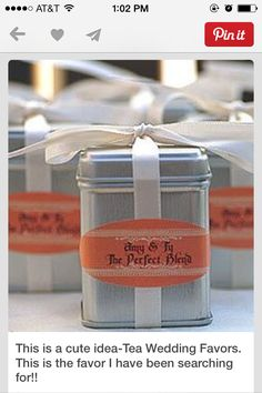 Favors! The perfect blend!