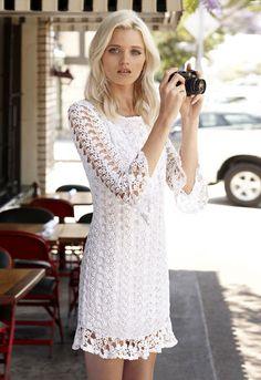 vestido branco & a camera.