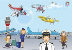 Praatplaat thema vliegveld, kleuteridee , free download