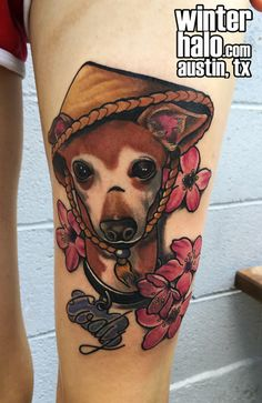 Whippet Puppy in A Rice Farmer's Hat and Cherry Blossom Flower  Tattoo by Chris Hedlund watercolor  tattoo tattoos best artist art illustration illustrator realistic realism drawing painting colorful austin tx texas georgetown pflugerville round rock taylor san antonio san marcos Best Artist, Artist Art, Whippet Puppies, Cherry Blossom Flowers, Round Rock, Austin Tx, Cool Tattoos, Watercolor Tattoo, Illustration Art