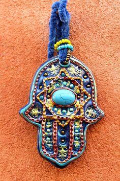 Hamsa lucky charm-Hamsa Decoration-Bohemian Hand of