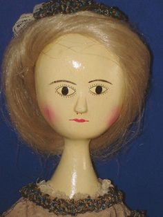 Artist Fred Laughon Queen Anne Peg Wooden Replica Doll 1989 (11/05/2013)