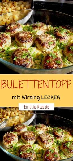Bulettentopf mit Wirsing LECKER Ingredients: 4 onions 500 g ground beef, mixed 2 egg (s) 1 tablespoon 3 slice (s) toast bread salt and pepper 30 g butter lard 30 g butter 2 tablespoons flour Mince Dishes, Pork Mince, Savoy Cabbage, Food Gallery, Beef Steak, Food Lists, Vegetable Dishes, Ground Beef, Food Porn