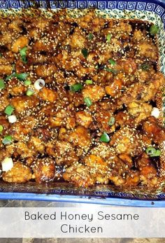 BEST Baked Honey Sesame Chicken Recipe - We made this for dinner and EVERYONE Loved it!