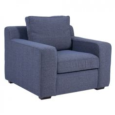 Lodge 1 Seater Fully Upholstered Couch, Connel Navy - Fully Upholstered Couches - Shop by Type - Couch Studio   Coricraft