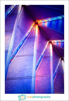 United States Air Force Academy Chapel; beautiful stained glass windows