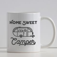 Home Sweet Camper: Cool Retro Camping RV Lovers Mug