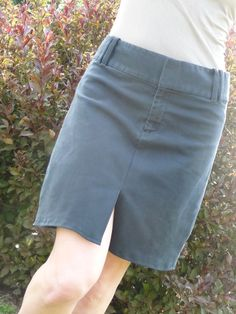 A skirt made from pants- i would make the slit in the back though...