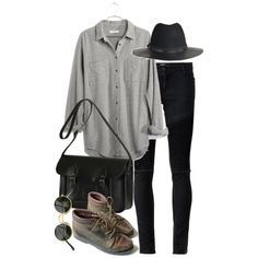 Untitled #6595 by nikka-phillips on Polyvore featuring Madewell, Each X Other and The Cambridge Satchel Company
