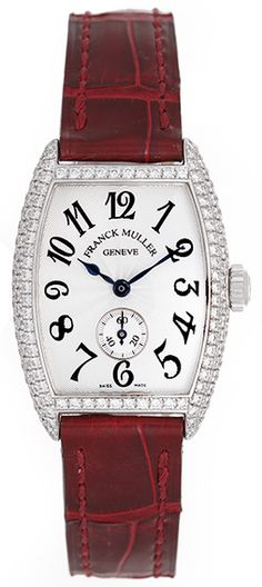 50122d34f92 Franck Muller Cintree Curvex Ladies Diamond 18k White Gold Watch 1750S6D