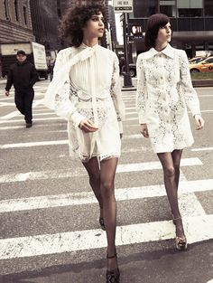 uptown girls: mica arganaraz, niki trefilova and julia nobis by glen luchford for vogue paris march 2015