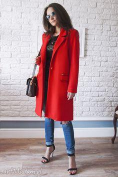 Bien fashion czerwony wiosenny płaszcz damski midi. $62 Duster Coat, Jackets, Fashion, Down Jackets, Moda, Fashion Styles, Fashion Illustrations, Jacket