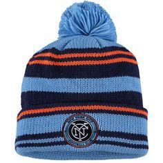 b236009783979 Men s New York City FC adidas Light Blue Cuffed Knit Hat with Pom