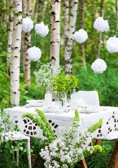 Kesäinen kattaus SK 5-6/13 liite Getting Married, Outdoor Living, Table Settings, Romantic, Table Decorations, Interior, Pretty, Wedding Ideas, Board
