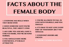 "cwote: ""important facts about the female body """
