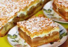 Jablečný koláč se skořicí a navrch posypaný drobenkou! Zvládne připravit i začátečník!