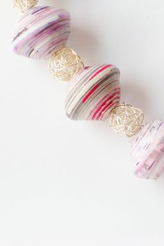 Making beads from paper is a craft that goes as far back as the Victorian age. Paper rolled on knitting needles in hand, women would gather socially in one thei