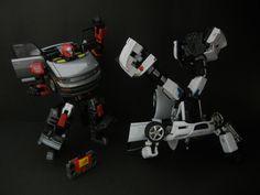 Transformers Binaltech Asterisk BTA-03 Broadblast (Blaster) and Alternators Meister (Jazz)