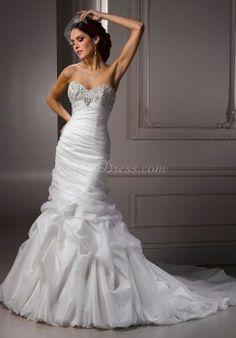 Mermaid Sleeveless Sweetheart Floor-Length Wedding Dress With Chapel Train