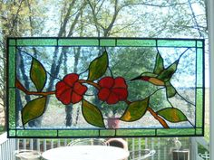 Hummingbird Stained Glass Panel. 215.00, via Etsy.