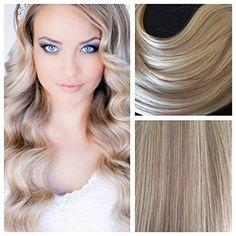 Amazon.com : Moresoo 22inch 100g Dark Ash Blonde Highlights with Golden Blonde Human Hair Seamless Skin Weft Blonde Hair Extensions Full Head 40pcs : Beauty