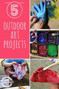 5 {Outdoor} Kids Art Projects - http://kidsactivitiesblog.com/46851/5-kids-art-projects