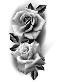 Lazo Tattoo, Black And Grey Rose Tattoo, Rose Reference, Rosa Tattoo, 3d Art Drawing, Aztec Art, Beautiful Rose Flowers, Chicano, Flower Tattoos