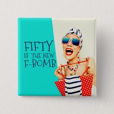 Hilarious Fifty is the New F-Bomb Birthday Button - glamour gifts diy special unique Happy Birthday 30 Funny, Birthday Wishes For Women, 50th Birthday Wishes, 40th Birthday Quotes, Birthday Text, Happy Birthday Friend, 70th Birthday Gifts, Fabulous Birthday, Happy Birthday Images
