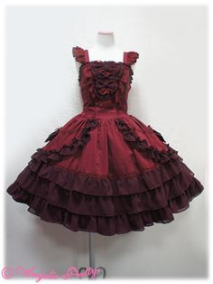 Angelic Pretty - Dressy Eternal JSK in Wine