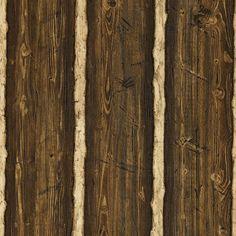 Brewster 412-41381 Franklin 56 Sq. Ft. Rustic Wood Panel Imitating Wallpaper - O Dark Brown Home Decor Wallpaper Wallpaper