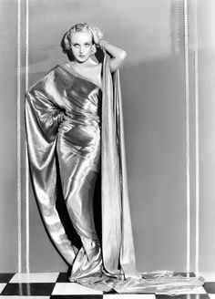 """wehadfacesthen: """"Carole Lombard in a Travis Banton gown, 1932 Banton was the head designer at Paramount during the 1930′s and so dressed Lombard as well as, among others, Claudette Colbert, Mae West, Kay Francis and, most notably, Marlene Dietrich """""""