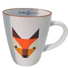 Caribou Coffee Ceramic Mug - Foxy. A ceramic mug with a modern fox print is a fun addition to your drinkware collection. Coffee Hound, Caribou Coffee, Fox Print, Cold Brew, Drinkware, Coffee Shop, Brewing, Ceramics, Mugs