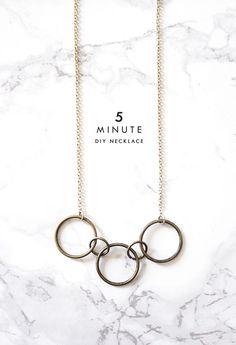 5 minute DIY necklace