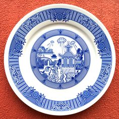 Calamityware: Terrifying Doomsday Scenarios Portrayed On Traditional Blue Porcelain Plates
