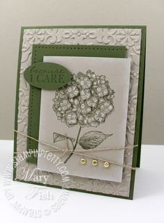 Stampin up because i care hydrangea card