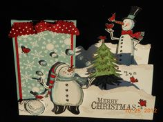 Renee Coburn SNOW MUCH FUN side-step card