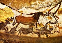 Peintures préhistoriques rupestres de la grotte de Lascaux - PEINTURE Plus