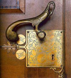 art nouveau pocket door hardware - Google Search