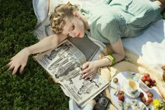 Paper Mothball Vintage, Paper Mothball Vintage, vintage picnic in central park, 1940s, vintage hair, pinup, editorial