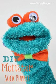 This simple and quick monster sock puppet craft is sure to kick some summer boredom to the curb!