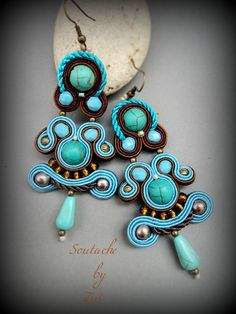 El Rinconcito de Zivi: Pendientes de soutache- soutache earrings