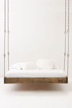 beautiful yet impractical for a bedroom - I could see this under a pergola in a garden (with weather-safe components).