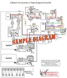 guitar wiring diagram 2 humbuckers 3 way toggle switch 2 volumes 2 rh pinterest com Fender Super Twin Reverb Schematic Fender Stratocaster Schematic Diagram