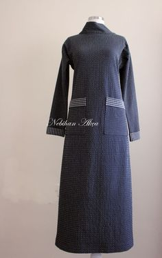 Boğazlı Pratik Kesim Elbise 36-46 Beden Aralığı - NEBİHAN AKÇA Muslim Fashion, Hijab Fashion, Fashion Dresses, The Dress, High Neck Dress, Shirt Dress, Sewing, Pattern, Shirts