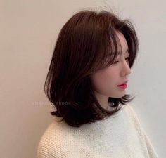 My Hairstyle, Hairstyles With Bangs, Pretty Hairstyles, Easy Hairstyles, Korean Haircut, Korean Short Hair, Short Hair Cuts, Hair Lights, Light Hair