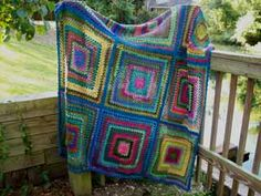 My sock yarn granny squares afghan that I made several years ago is still one of my favorite things.