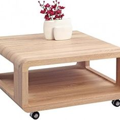 HomeTRENDS4You-217942-Coffee-Table-80-x-40-x-80-CM-Sonoma-Oak-on-wheels-0