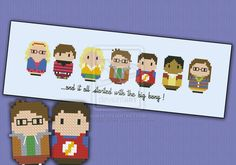 Mini People - The Big bang Theory cross stitch by cloudsfactory