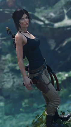 Tomb Raider Cosplay, Tomb Raider Lara Croft, Tomb Raider Game, Laura Croft, Mileena, How To Make Comics, Princess Mononoke, Game Character, Female Characters