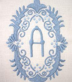 Linens, napkins, placemats...etc.  Exquisite monograms and such...  www.juliab.com